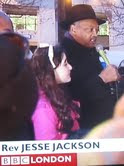 Libdemchild Speaking with Rev Jesse Jackson at Occupy St Paul's  Dec 15