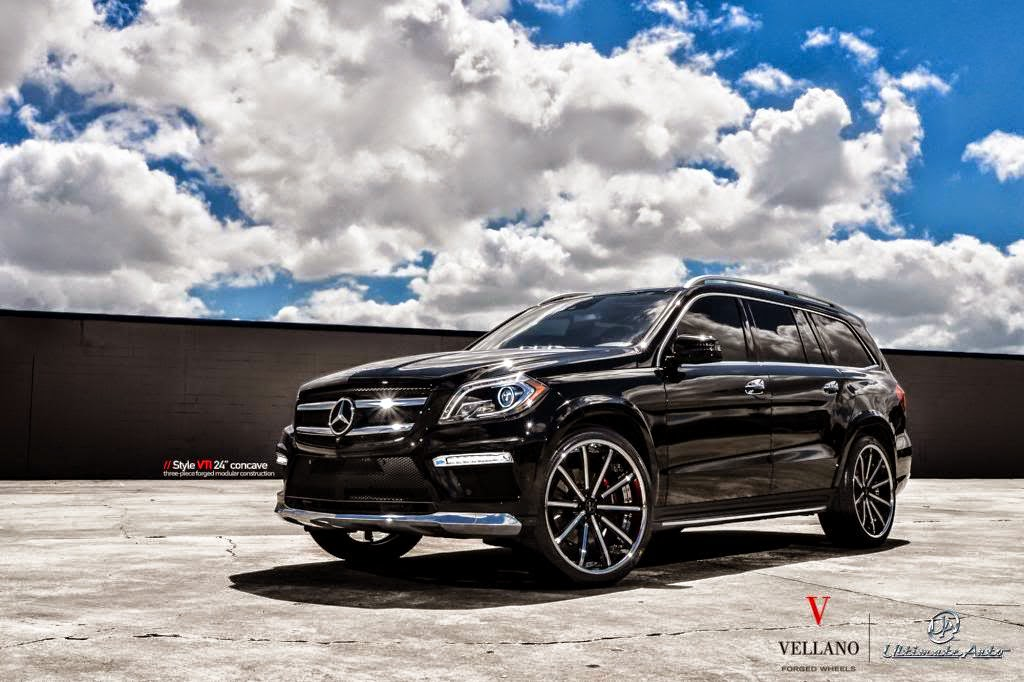 Mercedes benz x166 gl550 on 24inch vellano wheels benztuning for 24 inch mercedes benz rims