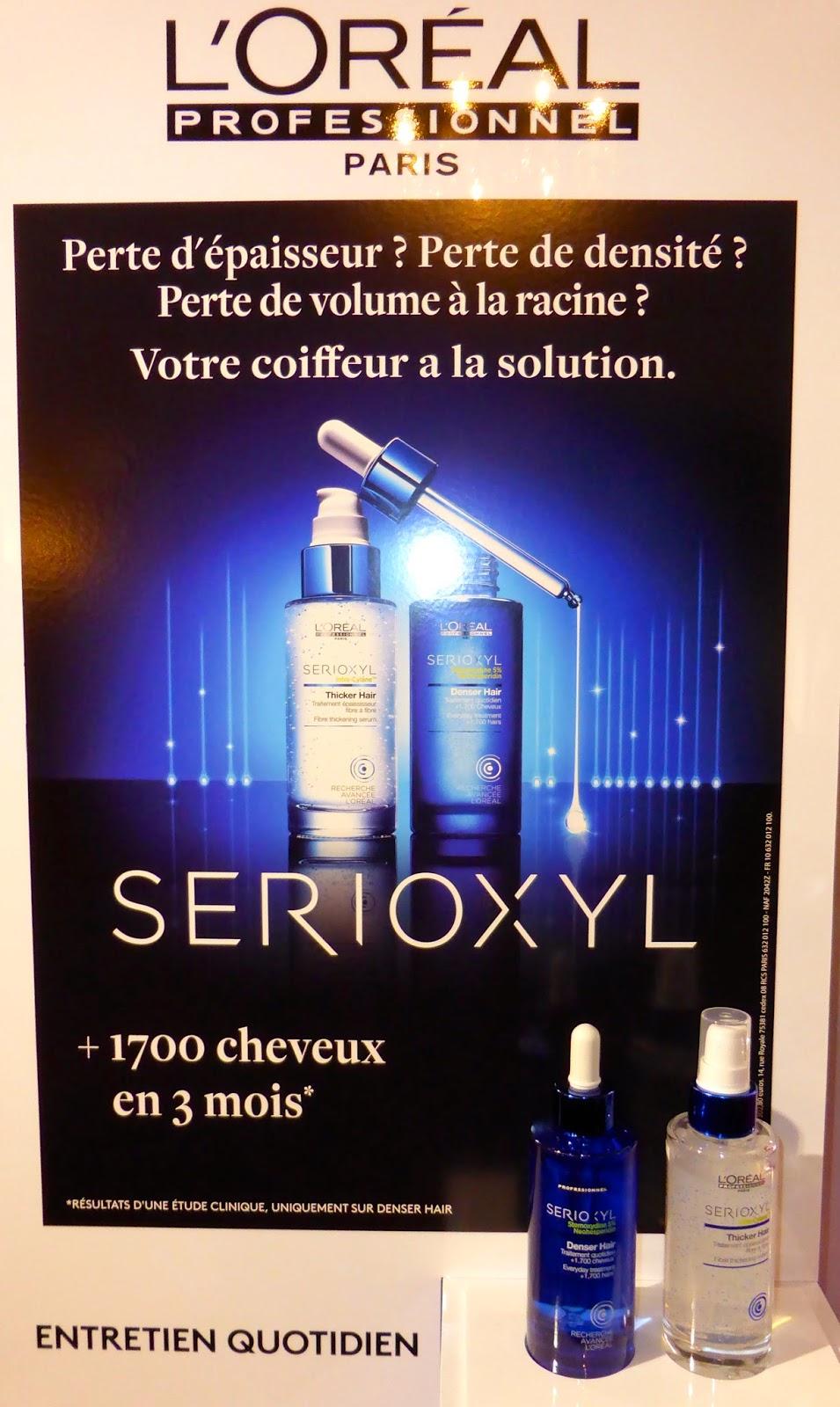 Serioxyl de l'Oréal Recherche Avancée, la solution pour les besoins de densité et/ou d'épaisseur.