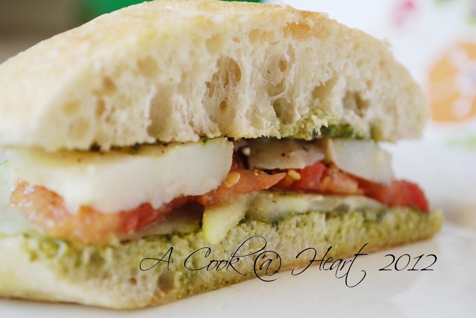 Cook @ Heart: Green Chutney Sandwich : Bombay Sandwich