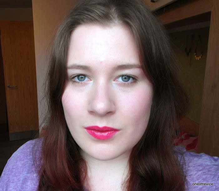swatch hot pink creamy mac lipstick fotd
