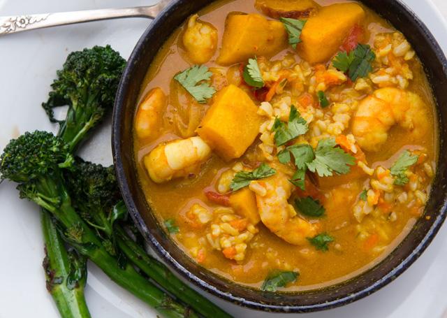 Dinner: Pumpkin Shrimp Curry