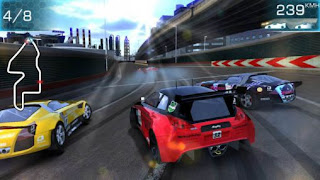 Screenshots of the Ridge racer: Slipstream for Android tablet, phone.