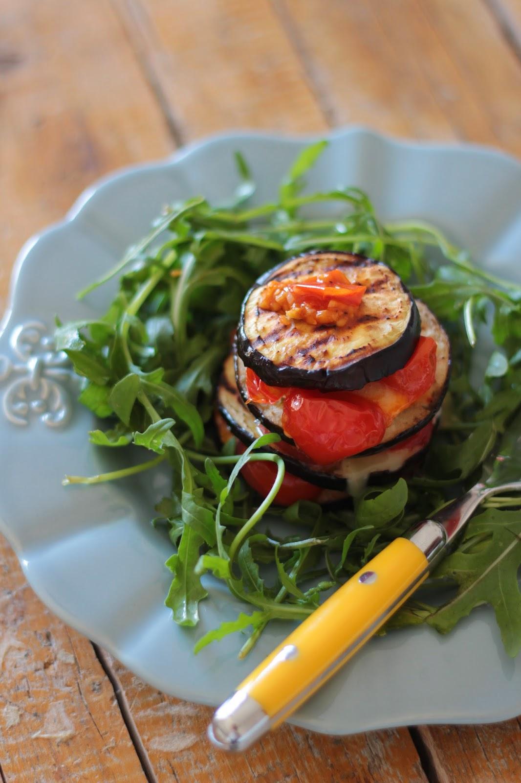 Beringela Grelhada com Tomate Cereja e Queijo fresco IMG_4264