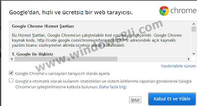 Windows 8 Chrome Kurulum