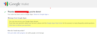 Google Apps Domain Registration - domain registration finished!