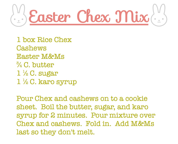 Easter Chex Mix @  Blissful Roots
