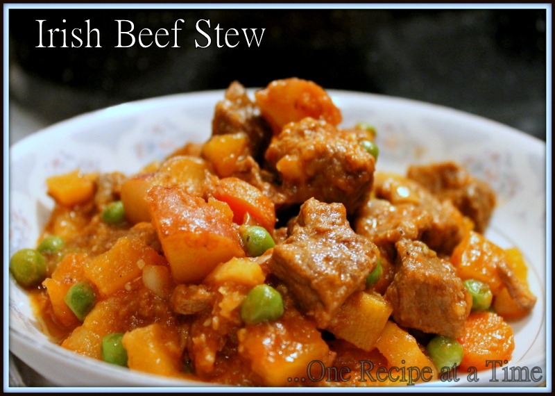 Learning the Ropes...One Recipe at a Time: Irish Beef Stew