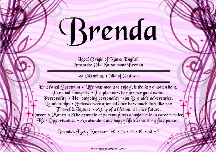 Brenda Unique Names