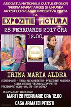 INVITAȚIE Aniversare Irina Maria ALDEA, 28 feb., ora 12.00 - Cercul militar Pitești - clic pe foto