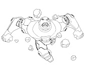 #5 Cyborg Coloring Page