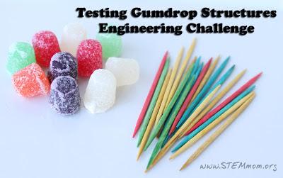Testing Gumdrop Structure Engineering Challenge: STEMmom.org
