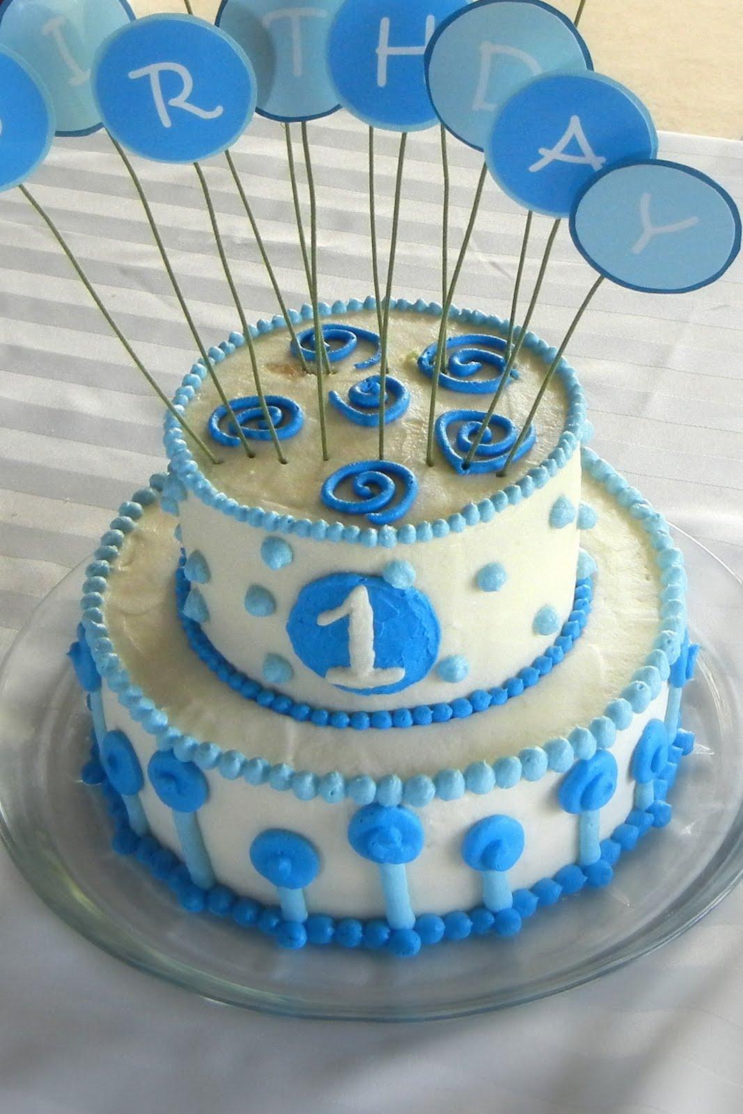 Party Cakes Baby Boy 1st Birthday Cake
