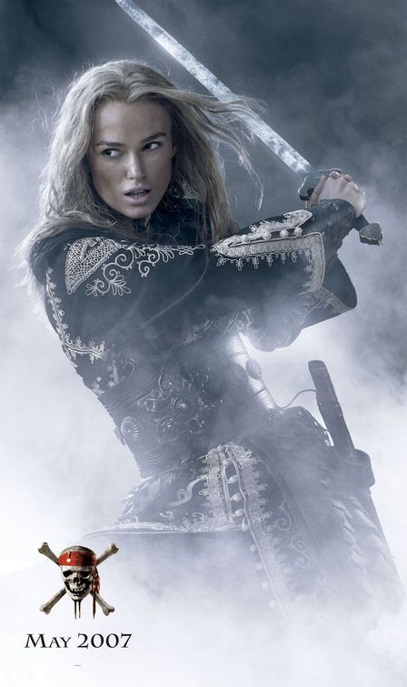 Keira Knightley Pirates of the Caribbean 3 poster