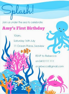 Under the Sea Invite Pink