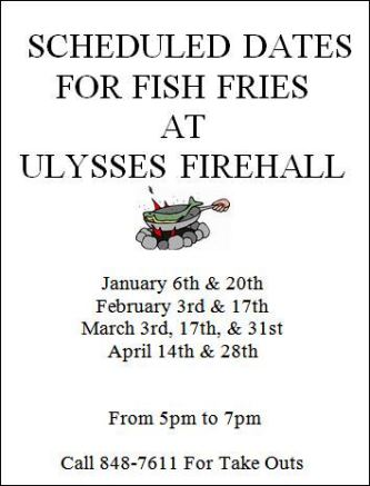 1-6 Scheduled Dates For Fish Fries