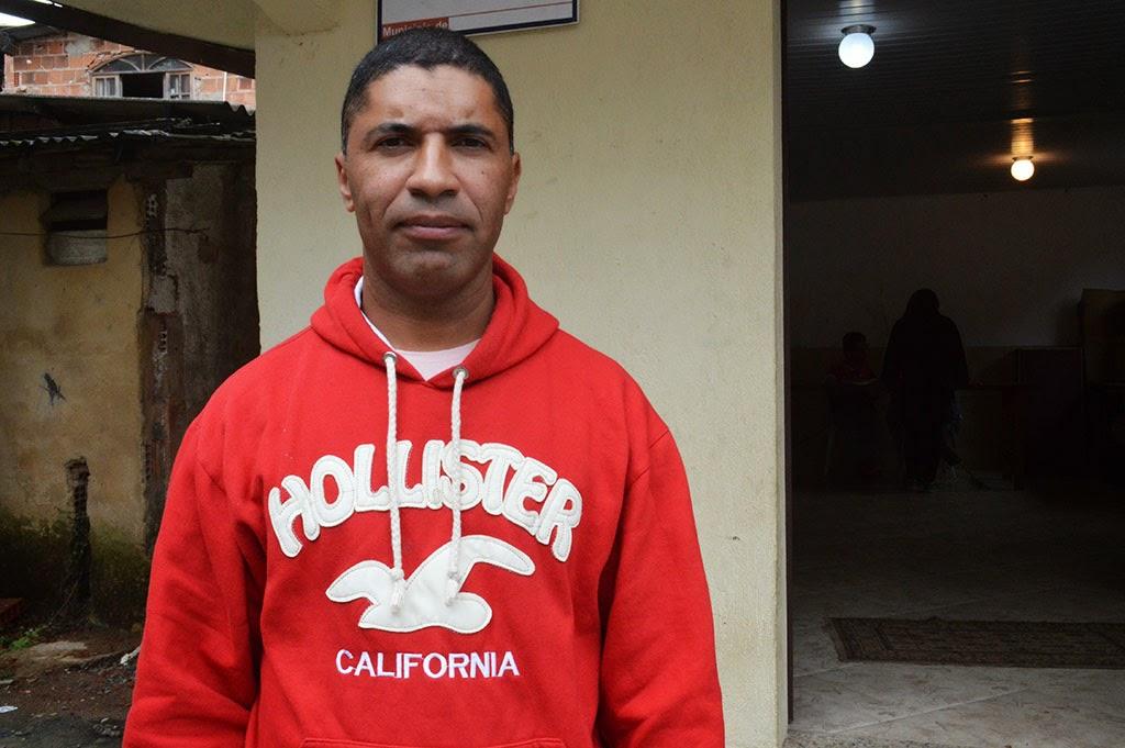 Morador João Carlos Carvalho: o treinamento tranquiliza a comunidade
