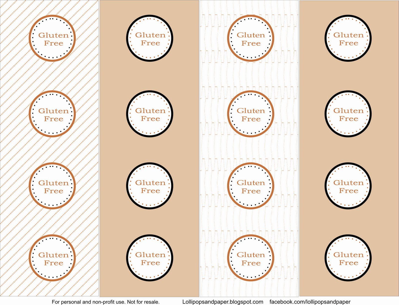 free printable allergy info dessert tags