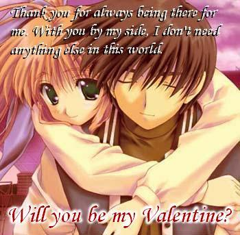2013 Valentine Card E Cards 2013 Anime Valentine Card Anime