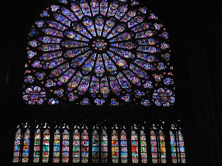 Stained Glass Rose Window in Notre Dame