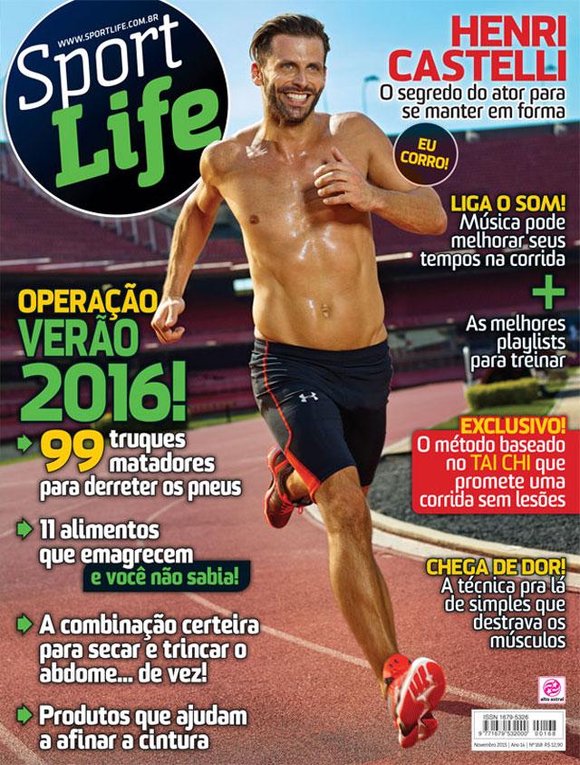 Henri Castelli é capa da edição de novembro da revista Sport Life. Foto: Reprodução