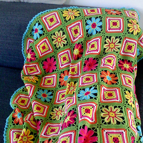 Flower Meadow Blanket