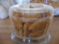 ginger biscuits ready to be crushed to be added to crumble mixture