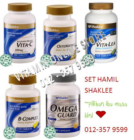 set hamil shaklee, vitamin ibu mengandung