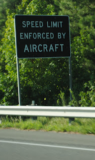 speed limit enforced by aircraft sign