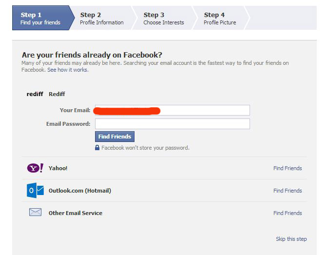 How To Create A New Facebook Account Sign Up Create Open
