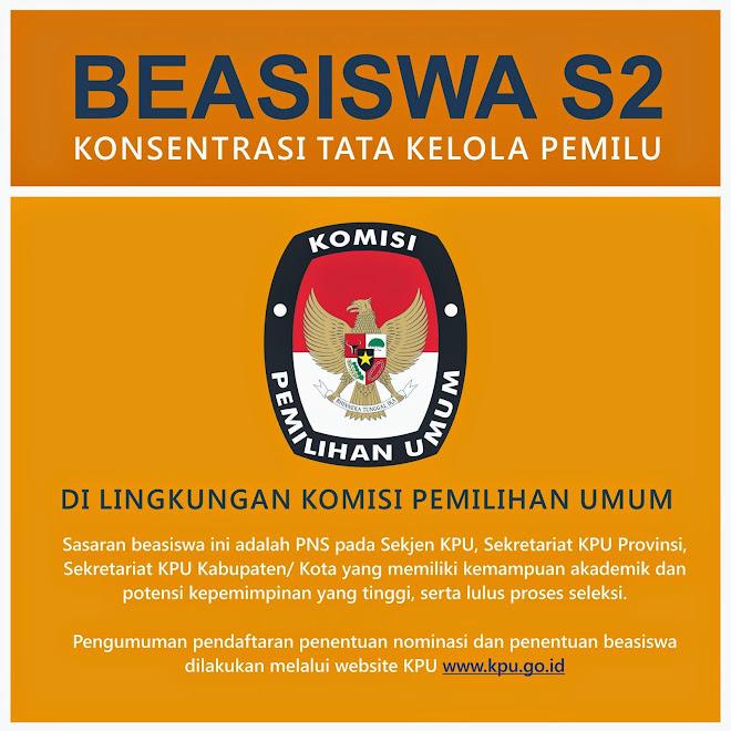 Beasiswa S2 Tata Kelola Pemilu untuk PNS KPU