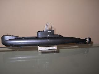 maqueta del submarino alemán clase 206A