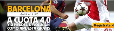 betfair Barcelona gana Ajax cuota 4 champions 21 octubre