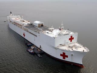 US Navy hospital vessel