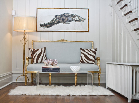 They Pack A Powerful Punch Against The Restrained Color Palette I Love Gold Accents More Casual Paneled Walls