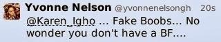 Yvonne Nelson Says Karen Boobs are Fake !