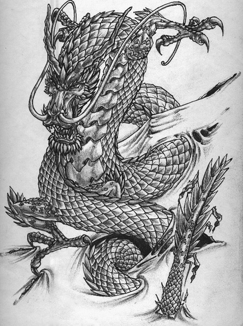 chinese dragon tattoos slodive tattoos. Black Bedroom Furniture Sets. Home Design Ideas