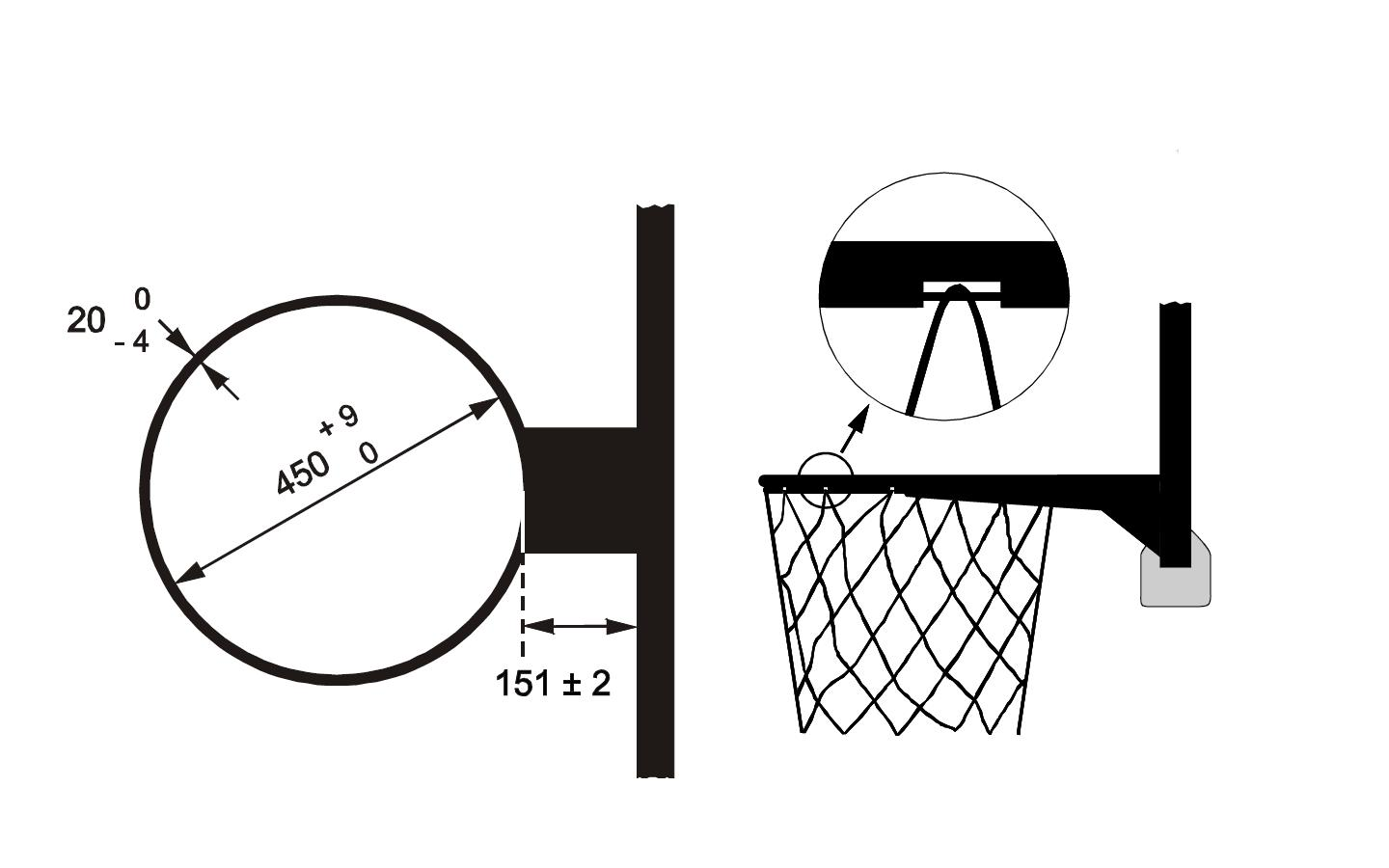 basketball rim dimensions related keywords