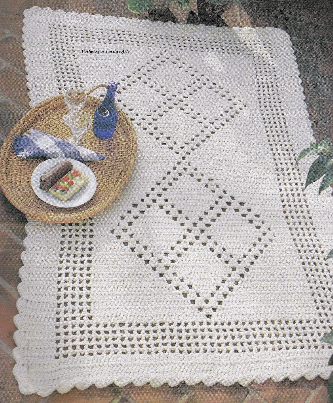 Tapete Para Sala De Croche Com Grafico Tapete Lindo With Tapete  -> Tapete De Sala Barbante Passo A Passo