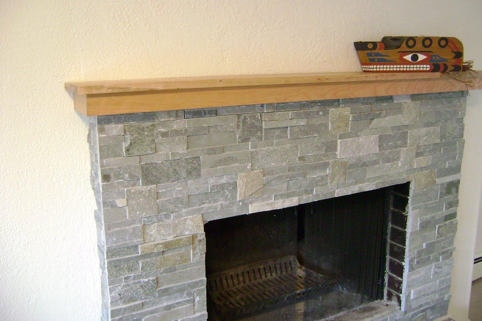 alaska wood fireplace refacing