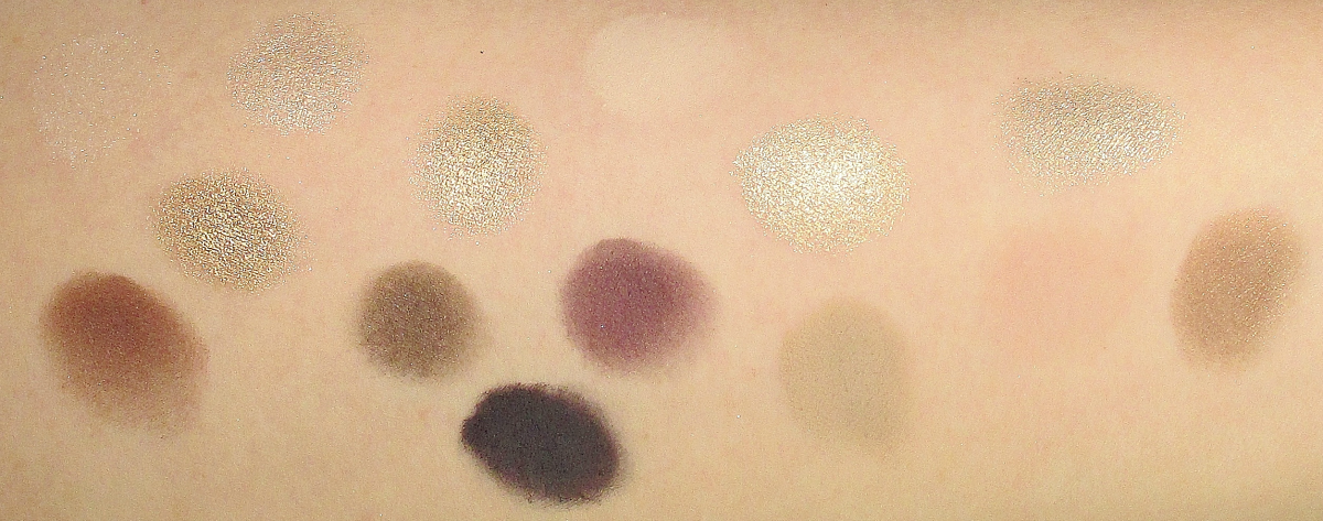 Tarte Light of the Party Collectors Makeup Case Random Swatches of Eye Shadows notesfrommydressingtable.com