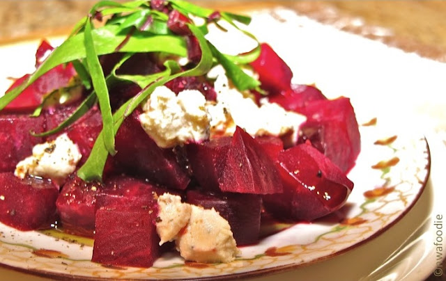 roasted beets with goat cheese crumbles nwafoodie