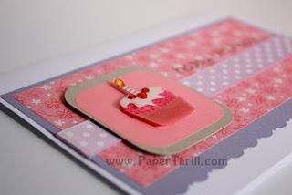 Handmade ice-cream cupcake birthday card