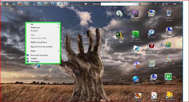 Computacion m y f como activar el aero a windows siete starter y home basic y cambiar fondo de - Como cambiar fondo de escritorio windows 7 starter ...