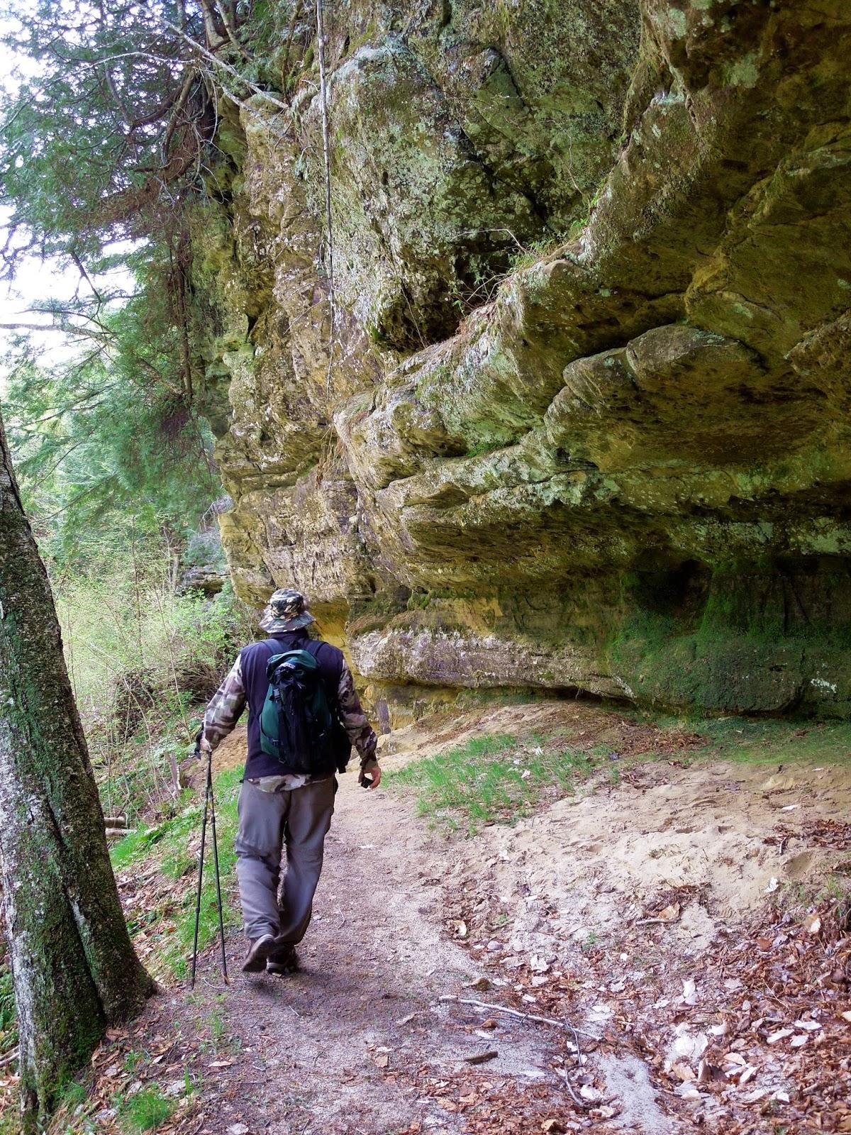 Michigan alger county munising - Overhanging Sandstone Cliff