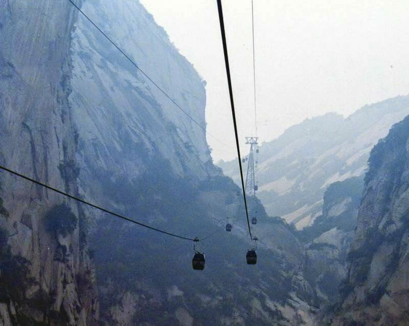 rail cars to Hua Shan Mountain China
