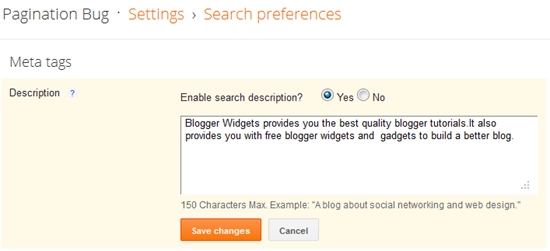 How To Add Meta Description Tags to Blogger