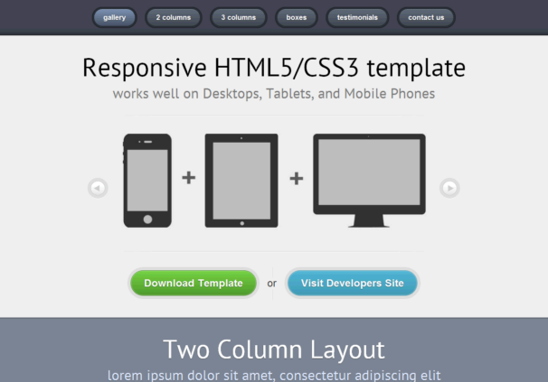 free html5 responsive templates - free html5 css3 html5 template responsive 01