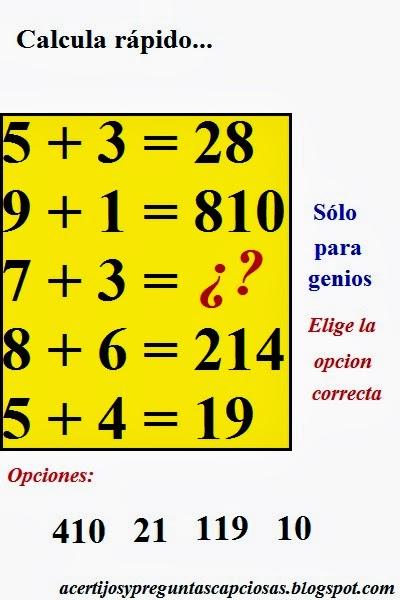 Acertijos matemáticos y preguntas capciosas: 2013-12-29