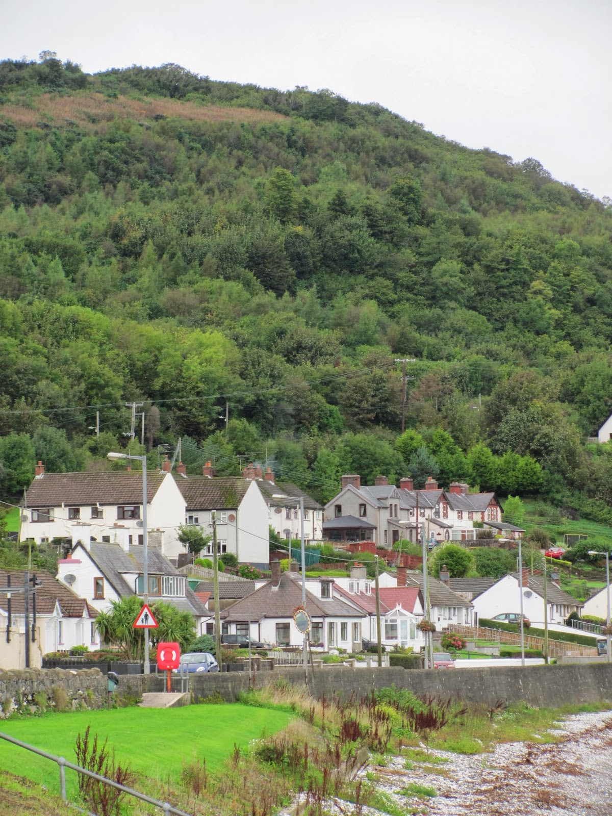 Villages dot the Antrim Coast in Northern Ireland